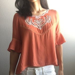 Tops - 🎈FREE! flare sleeve blouse size small